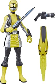 """Power Rangers Beast Morphers Yellow Ranger 6"""" Action Figure Toy Inspired by The TV Show"""