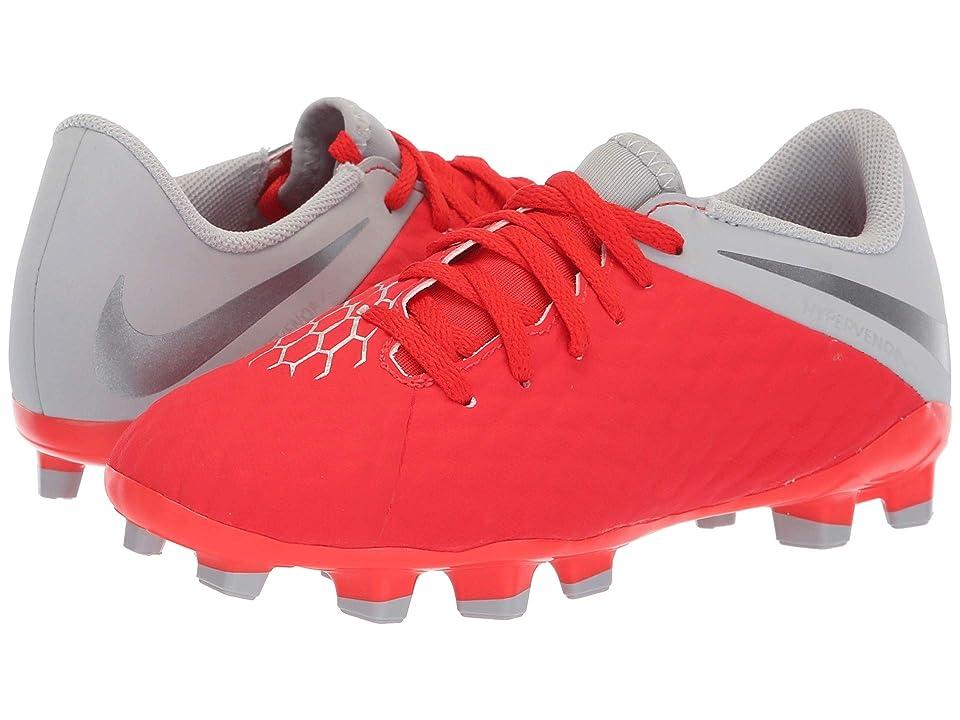 Nike Kids Phantom 3 Academy Firm Ground Soccer (Toddler/Little Kid/Big Kid) (Light Crimson/Metallic Dark Grey/Wolf Grey) Kids Shoes
