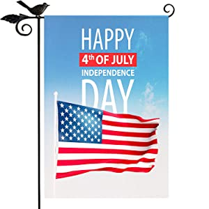 Memorial Day Decorations Garden Flag -4th July Patriotic American Flags 12x18 Double Sided Outdoor,Happy Independence Day Yard Art Porch Backyard Patio Outdoor decor Banners OURUOLA