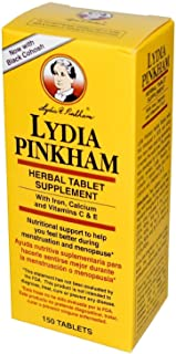 Lydia Pinkham Herbal Tablet Supplement 150 Tablets (Pack of 2)