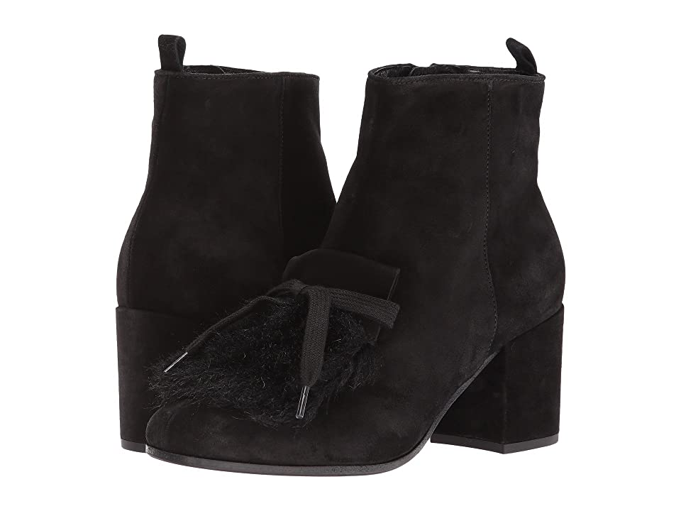 Kennel & Schmenger Kiki Embellished Boot (Schwarz Suede/Faux Fur) Women
