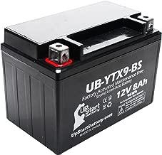 YTX9-BS Battery Replacement (8Ah, 12v, Sealed) Factory Activated, Maintenance Free Battery Compatible with - 2003 Polaris Predator 500, 2008 Suzuki GSX-R600, 2007 Suzuki GSX-R600, 2006 Suzuki GSX-R600