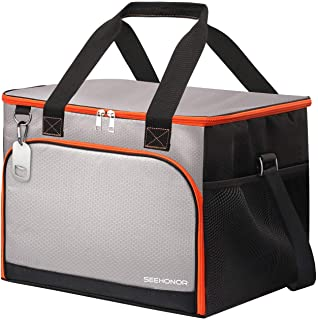 45-Can Insulated Cooler Bag Leakproof Soft Sided Cooler Bag Collapsible Portable Cooler for Lunch Picnic Camping Hiking Be...