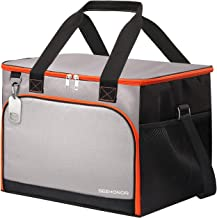 SEEHONOR Insulated Cooler Bag Leakproof Soft Sided Cooler Bag Collapsible Portable Cooler for Lunch Picnic Camping Hiking Beach BBQ Party, 40 Cans