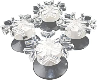 Set of 4 - Color Changing LED Snowflakes, Suction Cup Window Light Decor - #L7540