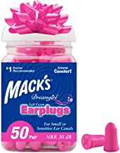 Mack's Dreamgirl Soft Foam Earplugs, 50 Pair, Pink - Small Ear Plugs for Sleeping, Snoring, Studying, Loud Events, Traveli...