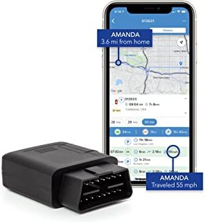 TrackPort GPS Tracker For Vehicles - Brickhouse Security OBD-II Track Car Location and Speed with Mini OBD Tracking Device...