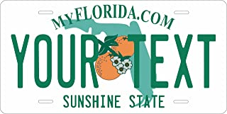 50 State Personalized Custom Novelty Tag Vehicle Auto Car Bike Bicycle Motorcycle Moped Key Chain License Plate (Florida 2003)