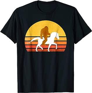 Retro Bigfoot Riding Unicorn T-Shirt, Vintage Sasquatch Tee