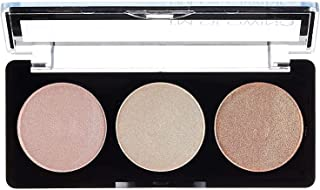 Palladio I'm Glowing Illuminating Highlighting Palette, Glow Bronzer Powder Makeup Set, High Pigmented Shimmery Colors