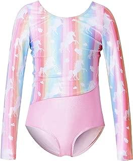 Qpancy Girls Gymnastics Leotards Kids Sparkly Unicorn Dancing Ballet Clothing