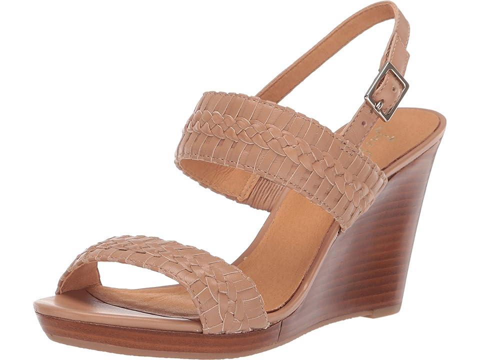 Jack Rogers Tinsley High Wedge (Buff/Buff) Women's Wedge Shoes, Tan