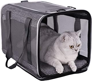 petsifam Pet Carrier for Large Cats and Small Dogs