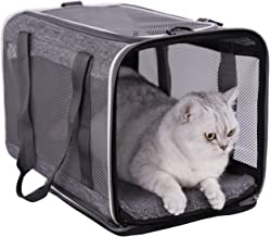 Top Load Pet Carrier for Large, Medium Cats, 2 Kitty and Small Dogs with Comfy Bed | Easy to Get Cat in, Escape Proof, Eas...