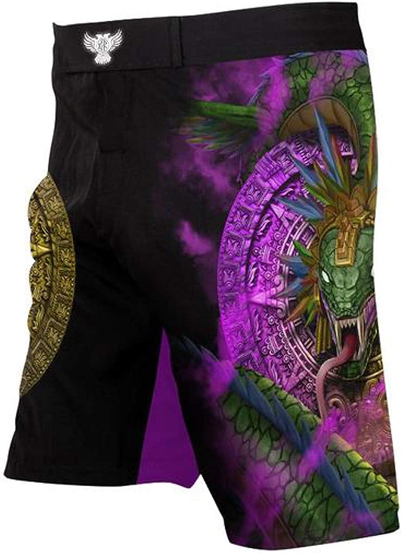 Raven Fightwear Men/'s Quetzalcoatl Aztec MMA Shorts Black
