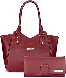 Aisna Women's Combo Handbag & Clutch(Maroon)