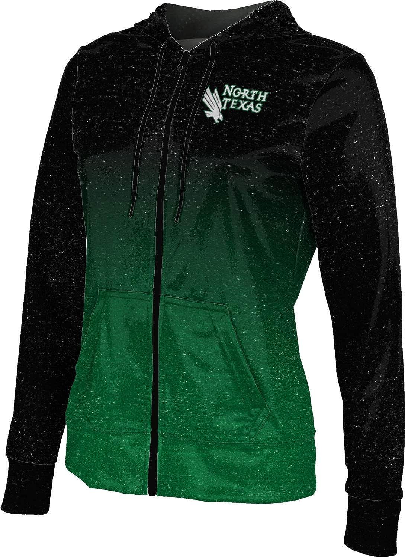 University of North Texas Girls' Zipper Hoodie, School Spirit Sweatshirt (Ombre)