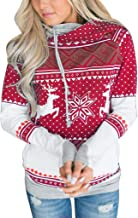 Sunmaote Unisex Ugly Christmas Hooded Sweatshirt Graphic Plus Size Hoodies Hooded Sweatshirts with Pockets Pullover