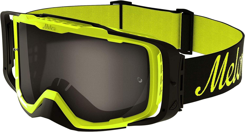 Melon Diablo Logo MX Goggles One Size Black ~ Green Chrome