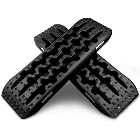 X-BULL New Recovery Traction Tracks Tire Ladder for Sand Snow Mud 4WD(Black)