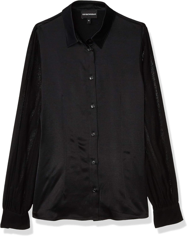 Emporio Armani Women's Satin Collared Button-up Blouse