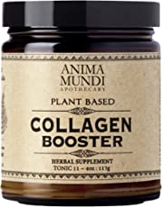 Anima Mundi Vegan Collagen Booster Powder - Plant Based Beauty Supplement for Skin, Hair & Nails - Collagen Powder for Youthful Looking Glow - Collagen Support Powder Drink Mix-in (4oz / 113g)