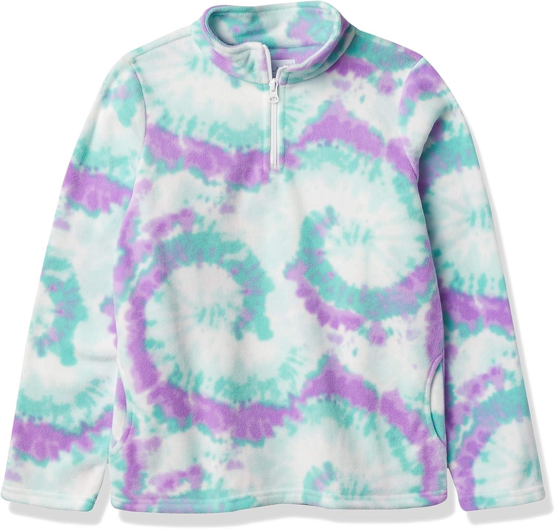 The Children's Place Girls' Print Glacier Fleece Half Zip Pullover