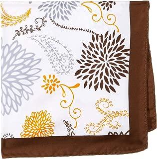 Van Heusen Men's Pocket Square Brown Floral, Brown, One Size