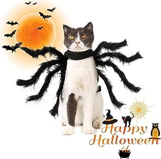 Halloween Spider Pet Costume Black Pet Spider Clothes Pet Halloween Costume for Small-Dog Cat Decoration Horror Simulation Plush Spider Costumes