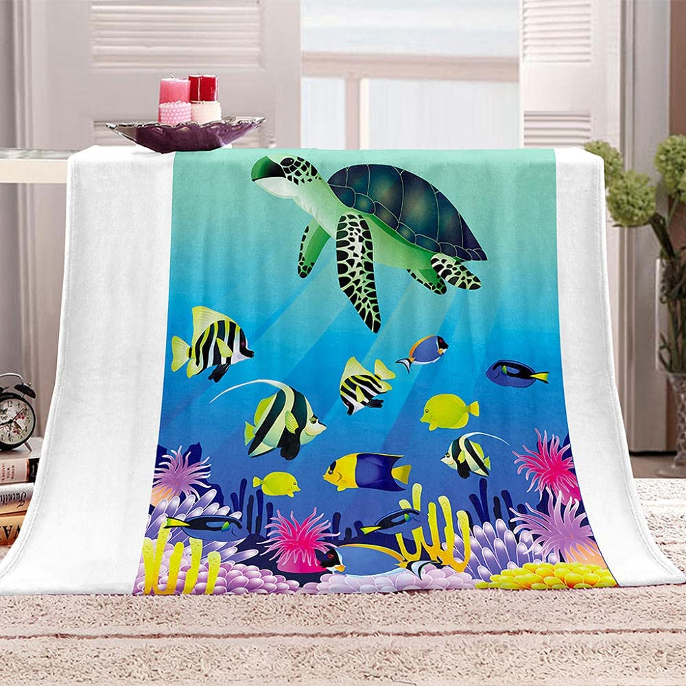 Throw Blankets Sea Animals K Adult Fleece Houston Mall for Al sold out.