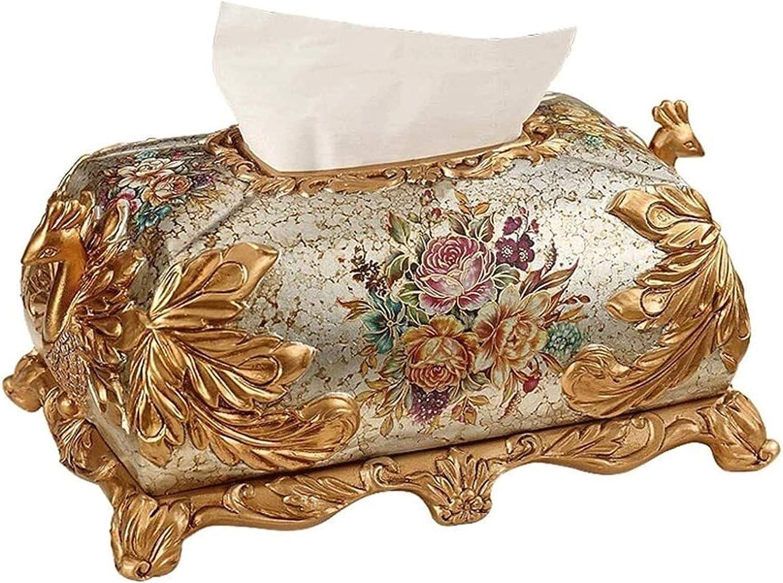 Tissue Box Holder Gold 2021 Cover Denver Mall European Peacock