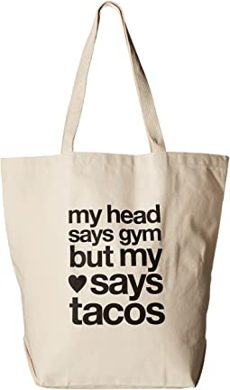 Dogeared My Head Says Gym Tote
