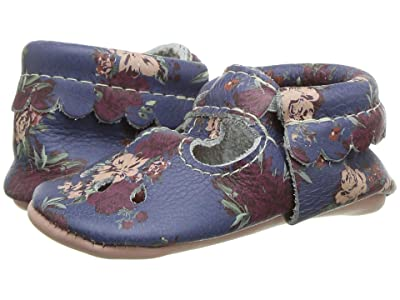 Freshly Picked Botanicals Mary Jane (Infant/Toddler) (Navy/Peach) Girl