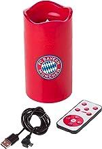 FC Bayern München Świeca LED czerwona wysokość ok. 15 cm