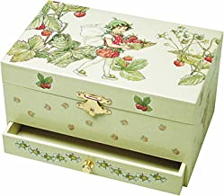 Trousselier Strawberry Flower Fairies Musical Jewellery Box