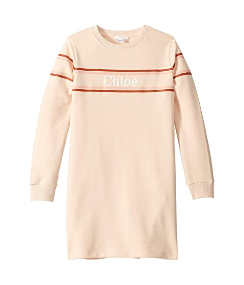 Chloe Kids Dress w/ Stripes and Logo (Big Kids)