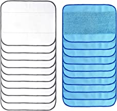 20- Pack Gemengde Microfiber Mopping Doeken 10 Nat+ 10 Dry Wasable& Herbruikbare Mop Pads Past I.R.O.B.O. t b.r.a.a.v. A 3...