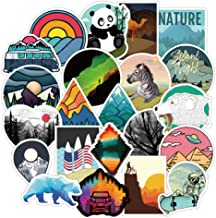 Waterproof Stickers Aesthetic Vinyl Sticker Decals for Teens – Perfect for Skateboard Motorcycle Luggage Bottles Aquatic Sporting Supplies - 50pcs/Pack Outdoor Adventure Style