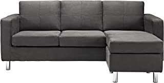 Small Spaces Configurable Sectional Sofa, Gray