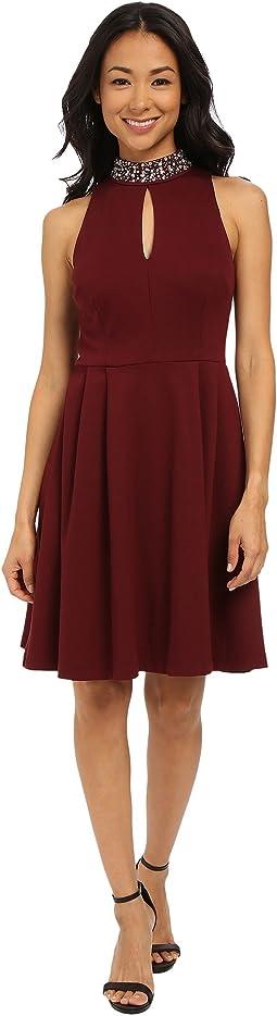 Cut in Pleated Dress