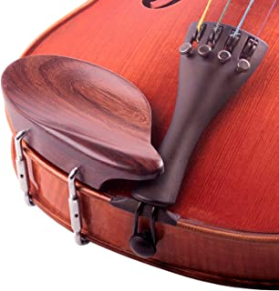 Strobel 3/4-4/4 Violin Chinrest - Rosewood with Standard Bracket