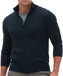 Banana Republic Men's Merino Wool-Blend Sweater Jacket, Dark Navy