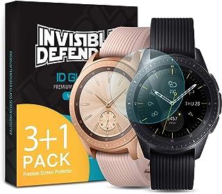 Ringke INVISIBLE DEFENDER Pellicola Protettiva [Vetro Temperato] [4-Pack] Compatibile con Galaxy Watch 42mm Shield Ultimat...