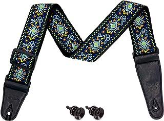 Gomilo guitar strap,blue Jacquard Guitar Straps for...