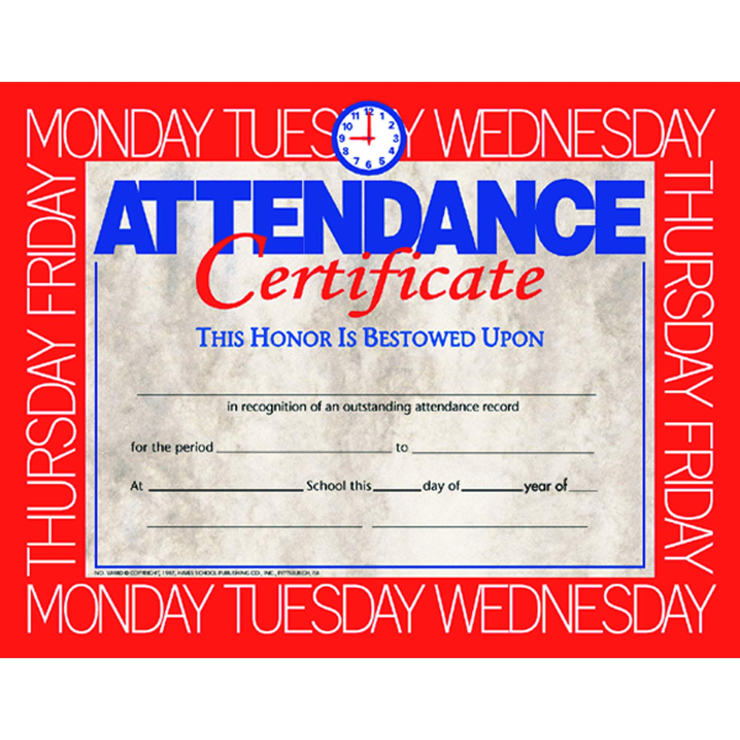 Hayes H-VA580BN Attendance 67% Denver Mall OFF of fixed price Certificate 8.5