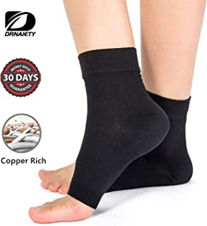 Ankle Brace Compression Support Sleeve Arthritis Copper Compression Sleeves/Plantar Fasciitis Socks (Pair)-Best Plantar Fasciitis Socks, Ankle Brace Compression Sleeve - Relieves Achilles Tendonitis