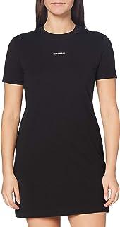 فستان تي شيرت مايكرو يحمل لوجو العلامة التجارية للنساء من كالفن كلاين