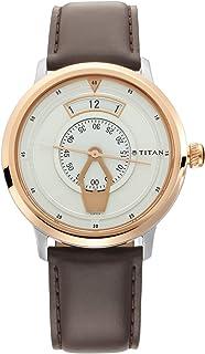 ساعة تيتان ماريتايم للرجال مينا بيضاء - 1828KL01
