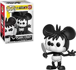 Funko Plane Crazy Mickey: Mickey's 90th Anniversary x POP! Disney Vinyl Figure & 1 POP! Compatible PET Plastic Graphical Protector Bundle [#431 / 32191 - B]