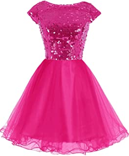 Junior's Short Tulle Homecoming Dresses with Sleeve Prom Gowns